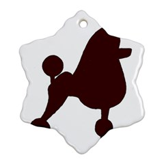 Poodle Brown Silo Ornament (Snowflake)