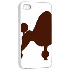 Poodle Brown Silo Apple iPhone 4/4s Seamless Case (White)