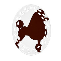 Poodle Brown Silo Oval Filigree Ornament (Two Sides)