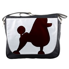 Poodle Brown Silo Messenger Bags
