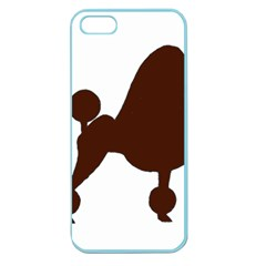 Poodle Brown Silo Apple Seamless iPhone 5 Case (Color)