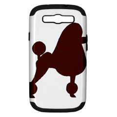 Poodle Brown Silo Samsung Galaxy S III Hardshell Case (PC+Silicone)