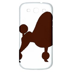 Poodle Brown Silo Samsung Galaxy S3 S III Classic Hardshell Back Case