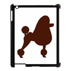 Poodle Brown Silo Apple iPad 3/4 Case (Black)