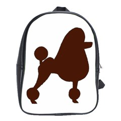 Poodle Brown Silo School Bags (XL)
