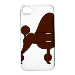 Poodle Brown Silo Apple iPhone 4/4S Hardshell Case with Stand