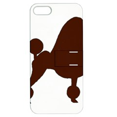Poodle Brown Silo Apple iPhone 5 Hardshell Case with Stand