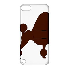 Poodle Brown Silo Apple iPod Touch 5 Hardshell Case with Stand