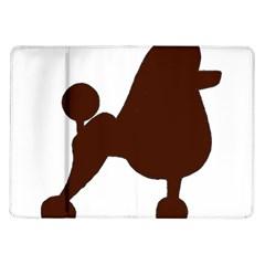 Poodle Brown Silo Samsung Galaxy Tab 10.1  P7500 Flip Case