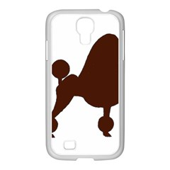 Poodle Brown Silo Samsung GALAXY S4 I9500/ I9505 Case (White)