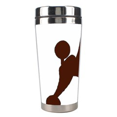 Poodle Brown Silo Stainless Steel Travel Tumblers