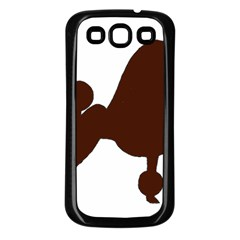 Poodle Brown Silo Samsung Galaxy S3 Back Case (Black)