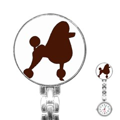 Poodle Brown Silo Stainless Steel Nurses Watch