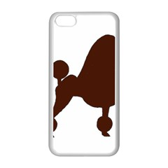 Poodle Brown Silo Apple iPhone 5C Seamless Case (White)