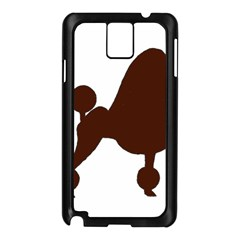 Poodle Brown Silo Samsung Galaxy Note 3 N9005 Case (Black)