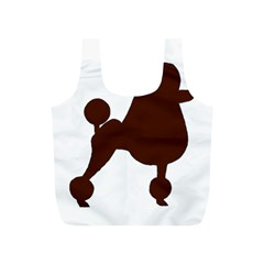 Poodle Brown Silo Full Print Recycle Bags (S)