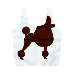 Poodle Brown Silo Full Print Recycle Bags (M)