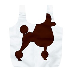 Poodle Brown Silo Full Print Recycle Bags (L)