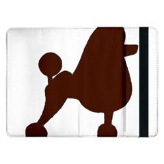 Poodle Brown Silo Samsung Galaxy Tab Pro 12.2  Flip Case