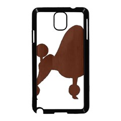 Poodle Brown Silo Samsung Galaxy Note 3 Neo Hardshell Case (Black)