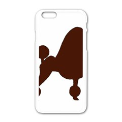 Poodle Brown Silo Apple iPhone 6/6S White Enamel Case