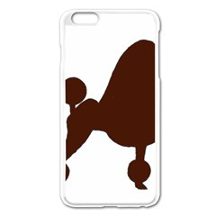 Poodle Brown Silo Apple iPhone 6 Plus/6S Plus Enamel White Case