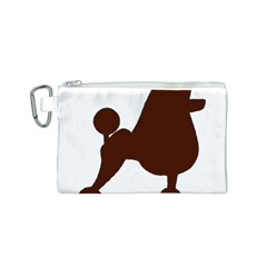 Poodle Brown Silo Canvas Cosmetic Bag (S)