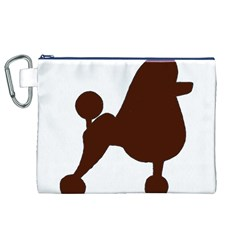 Poodle Brown Silo Canvas Cosmetic Bag (XL)