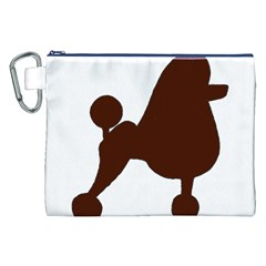Poodle Brown Silo Canvas Cosmetic Bag (XXL)