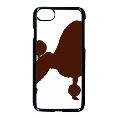 Poodle Brown Silo Apple iPhone 7 Seamless Case (Black)
