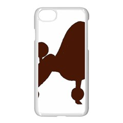 Poodle Brown Silo Apple iPhone 7 Seamless Case (White)