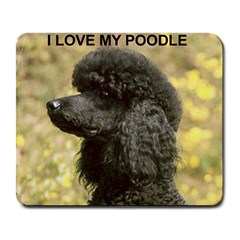 Poodle Love W Pic Black Large Mousepads