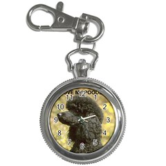 Poodle Love W Pic Black Key Chain Watches