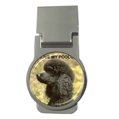 Poodle Love W Pic Black Money Clips (Round)