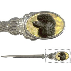Poodle Love W Pic Black Letter Openers
