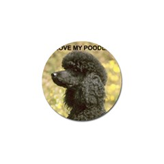 Poodle Love W Pic Black Golf Ball Marker