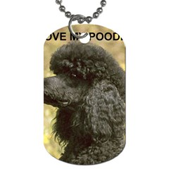 Poodle Love W Pic Black Dog Tag (Two Sides)