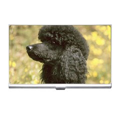 Poodle Love W Pic Black Business Card Holders