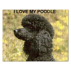 Poodle Love W Pic Black Rectangular Jigsaw Puzzl