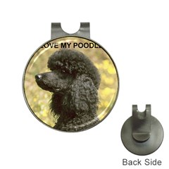 Poodle Love W Pic Black Hat Clips with Golf Markers