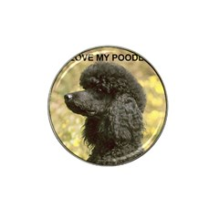 Poodle Love W Pic Black Hat Clip Ball Marker (4 pack)