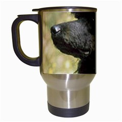 Poodle Love W Pic Black Travel Mugs (White)
