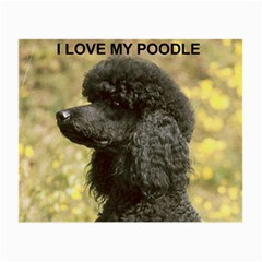 Poodle Love W Pic Black Small Glasses Cloth