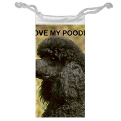 Poodle Love W Pic Black Jewelry Bag