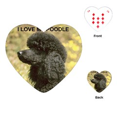 Poodle Love W Pic Black Playing Cards (Heart)