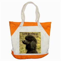 Poodle Love W Pic Black Accent Tote Bag