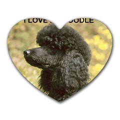 Poodle Love W Pic Black Heart Mousepads