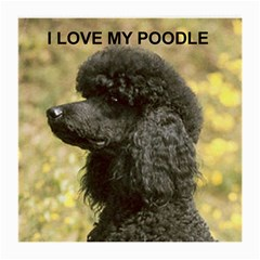 Poodle Love W Pic Black Medium Glasses Cloth