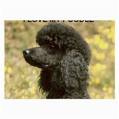 Poodle Love W Pic Black Large Glasses Cloth