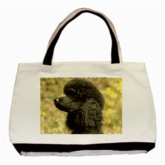 Poodle Love W Pic Black Basic Tote Bag (Two Sides)